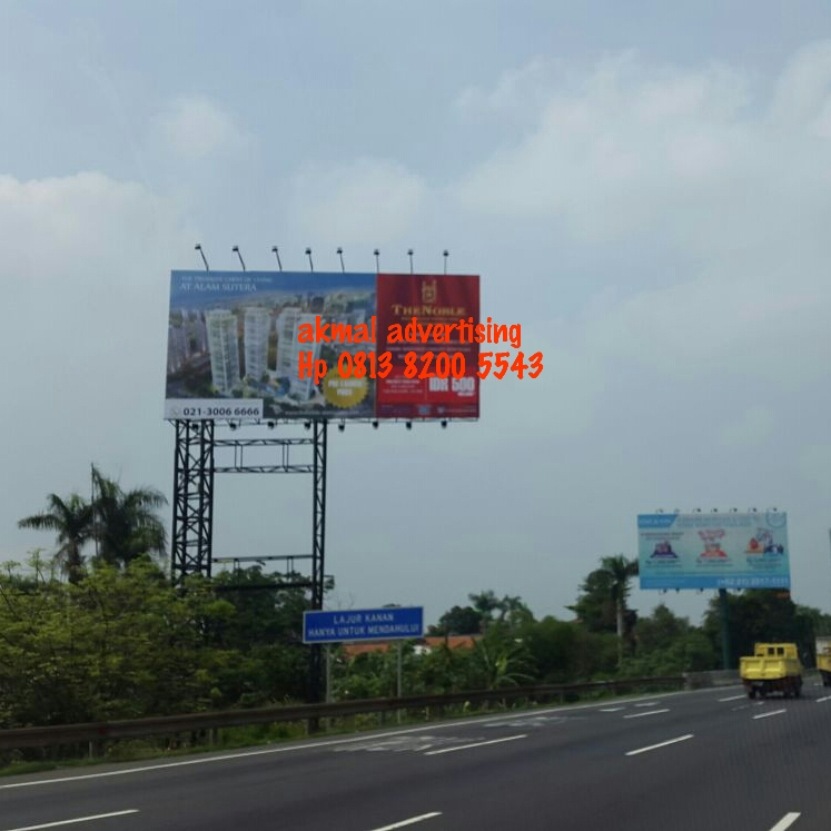 BILLBOARD 8M X 16M DIJALAN TOLL