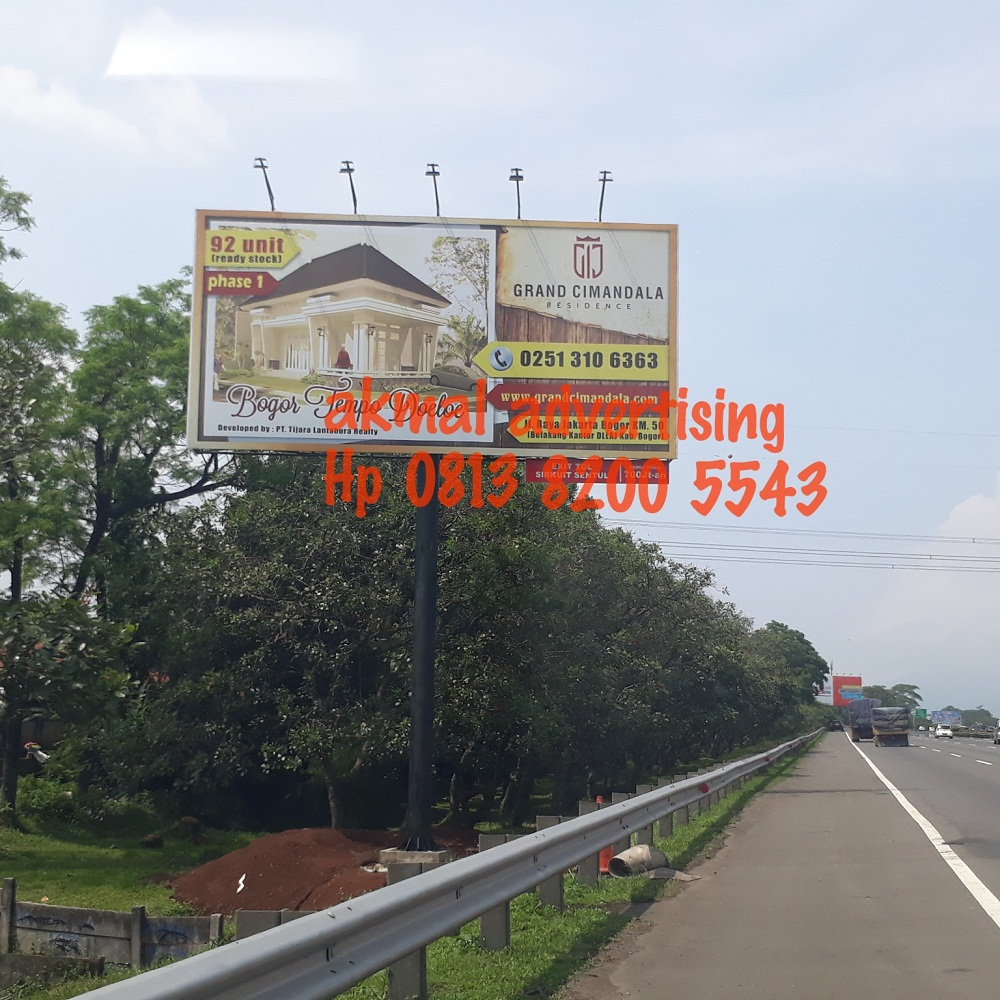 BILLBOARD 5M X 10M HORIZONTAL DI JALAN TOLL