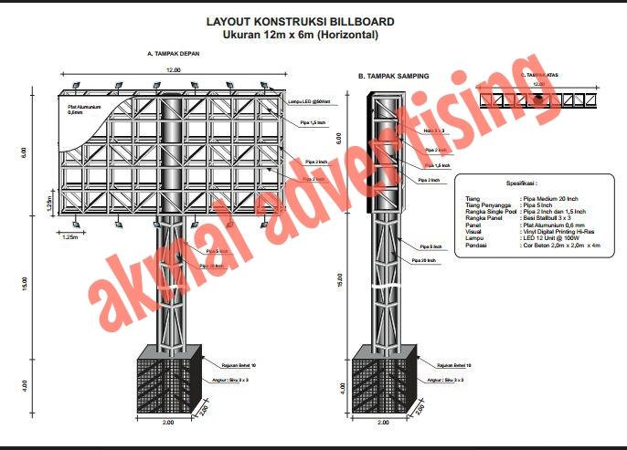 BILLBOARD UKURAN 2M X 4M
