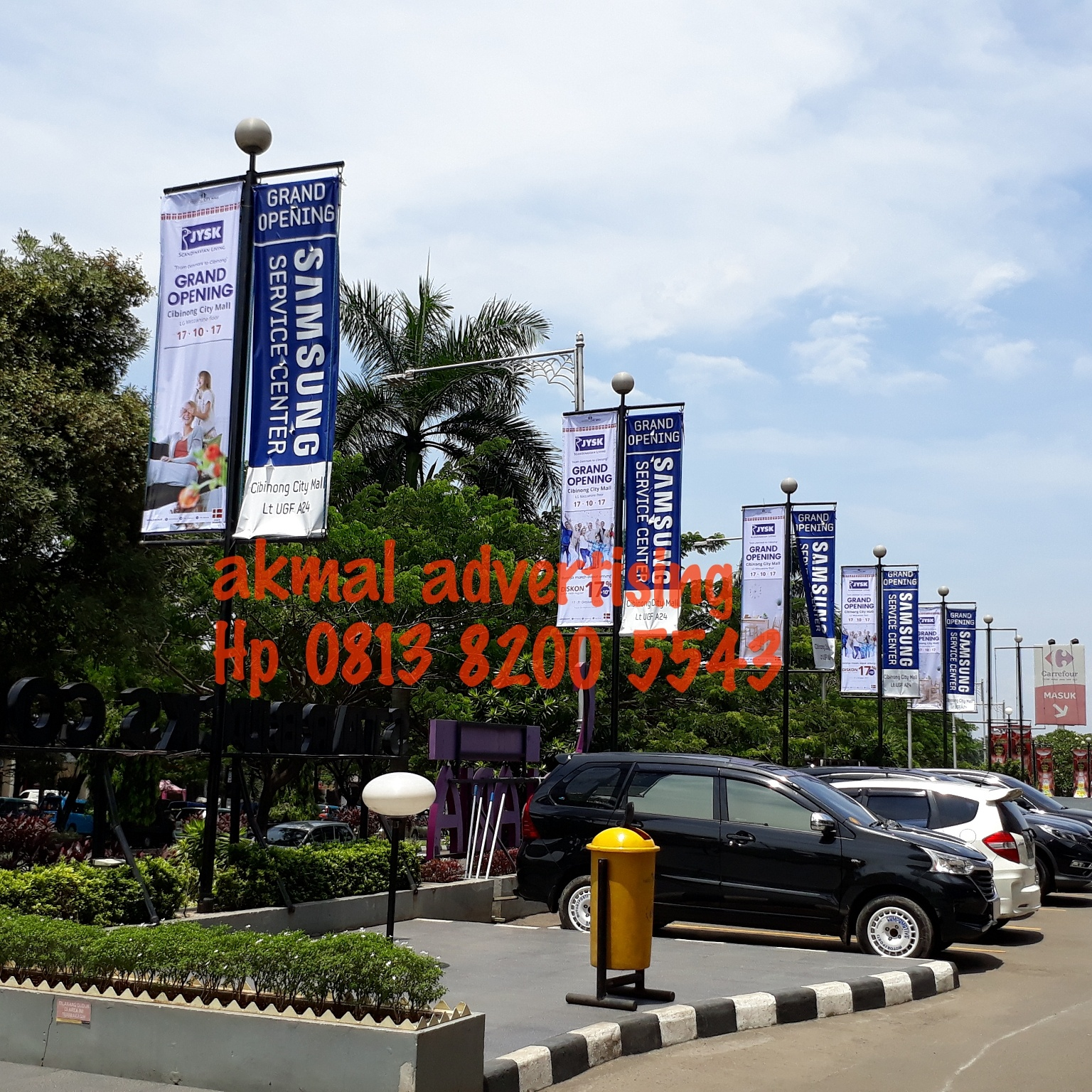 T-BANNER AREA PARKIR MALL