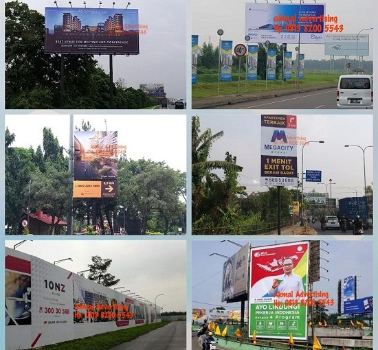 Jasa Pemasangan Billboard, Signboard, Hoarding Pagar, Baliho, Balon Udara, T-banner, Umbul-umbul, DLL